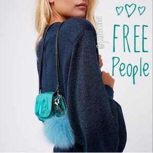 * FREE PEOPLE Tiny Purse Metallic Turquoise NWT